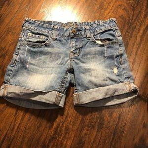 AMETHYST Fold Up Jean Shorts Size 3